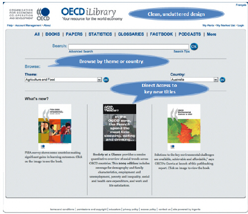 OECD home page with cap500