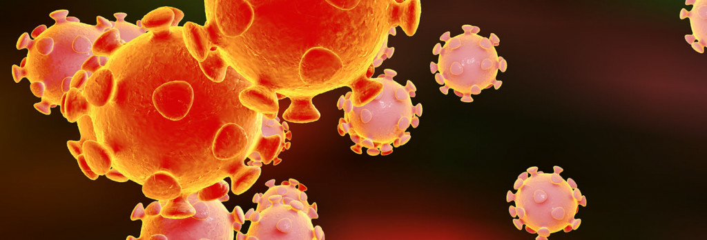 3D illustration of Coronavirus, virus which causes SARS and MERS, Middle East Respiratory Syndrome